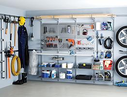 Сетчатые системы Elfa для гаража и мастерской