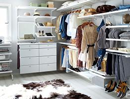 Сетчатые системы Elfa для гардеробных