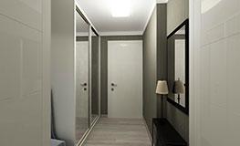 Зеркальные шкафы-купе в коридор