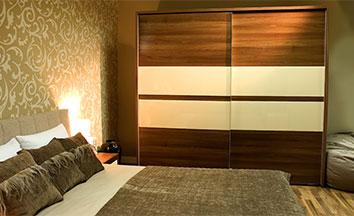 Двухдверные шкафы-купе в спальню